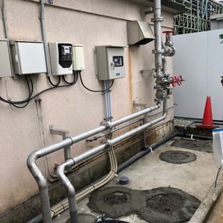 浄化槽廃止及び市下水化に伴う配管工事