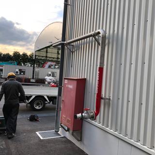 消火栓ボックス移設及び増設に伴う配管工事
